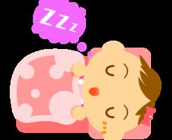 布団で寝る赤ちゃん